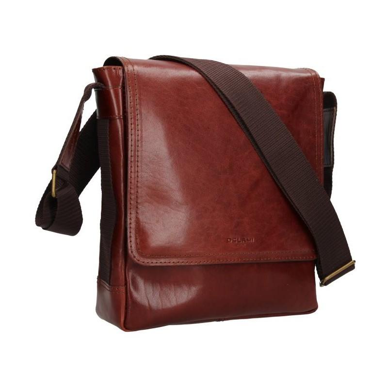 Pánská kožená taška na doklady Delami Arnold - koňak