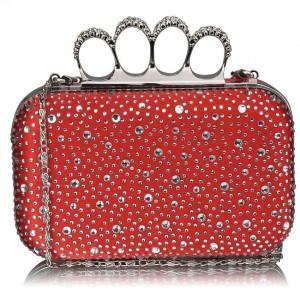 Dámské psaníčko LS Fashion Rachel - červená
