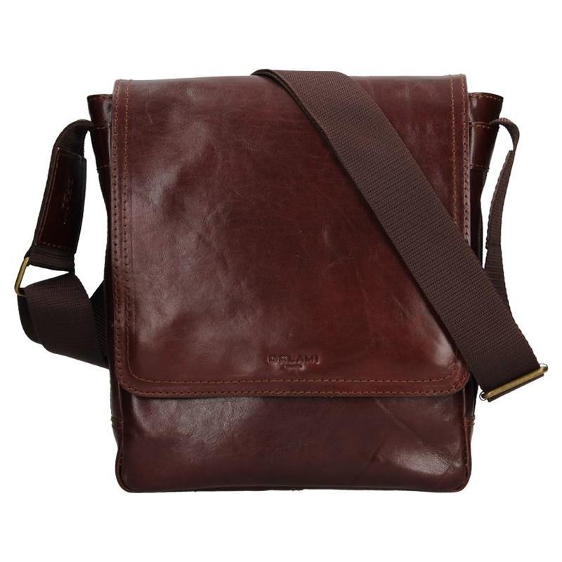 Pánská kožená taška na doklady Delami Arnold - hnědá