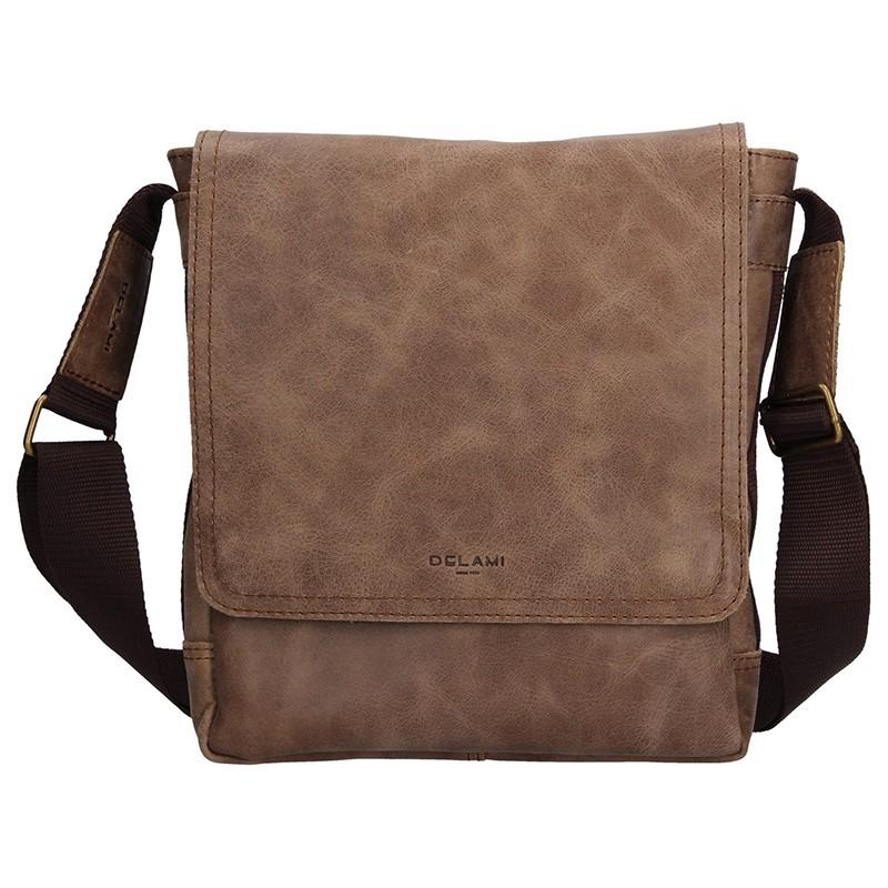 Pánská kožená taška na doklady Delami Arnold - světle hnědá
