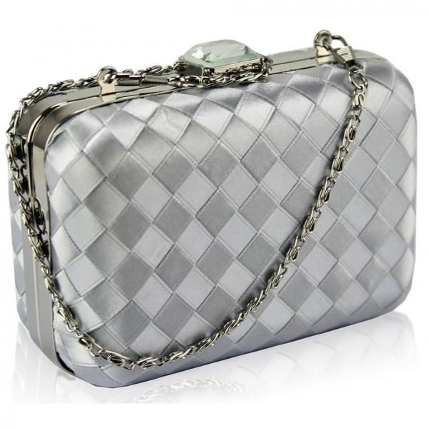 Dámské psaníčko LS Fashion Rosie - stříbrná