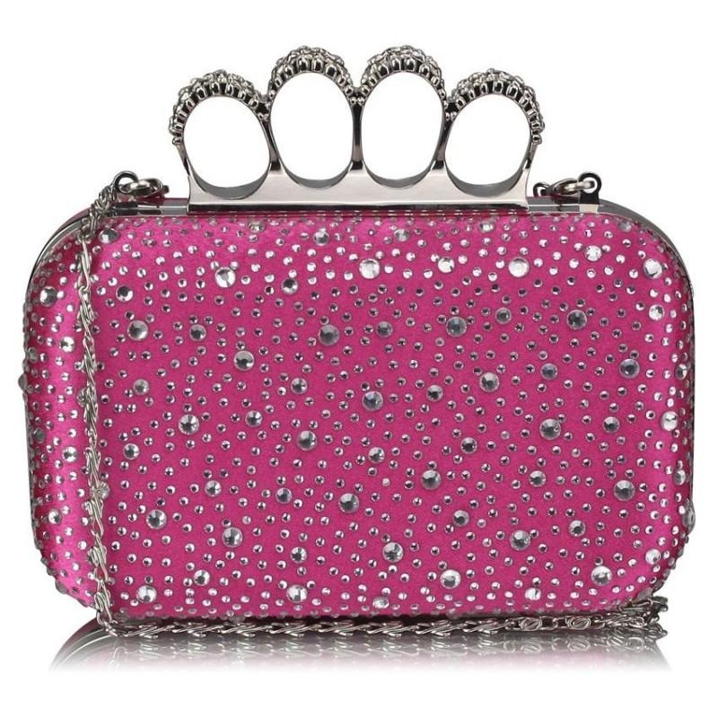 Dámské psaníčko LS Fashion Rachel - růžová