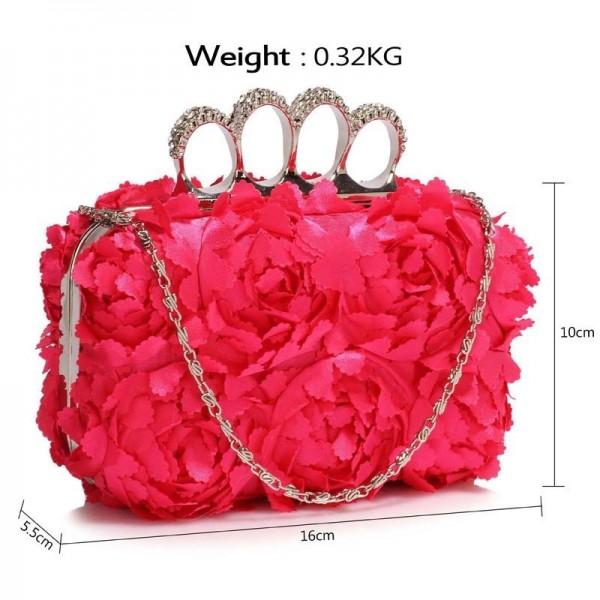 Dámské psaníčko LS Fashion Flower- růžová