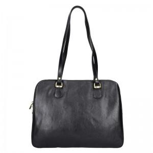 Luxusní kožená dámská kabelka Hexagona 113292 - černá