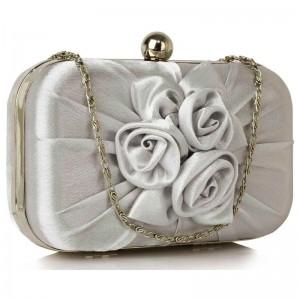 Dámské psaníčko LS Fashion Rousie - stříbrná