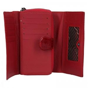 Dámská kožená peněženka Loren Sigma - červená