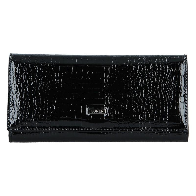 Dámská kožená peněženka Loren Karla - černá