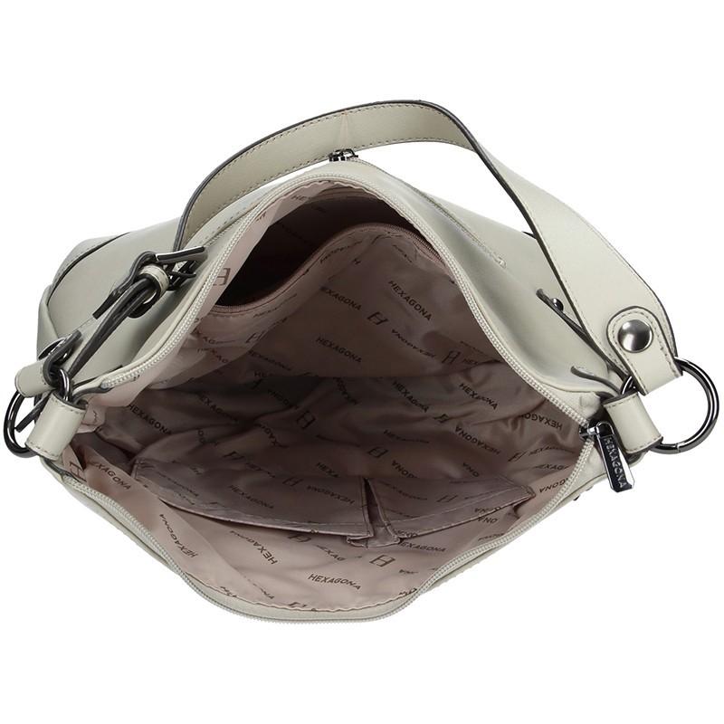 Dámská kabelka Hexagona 764666 - světle šedá