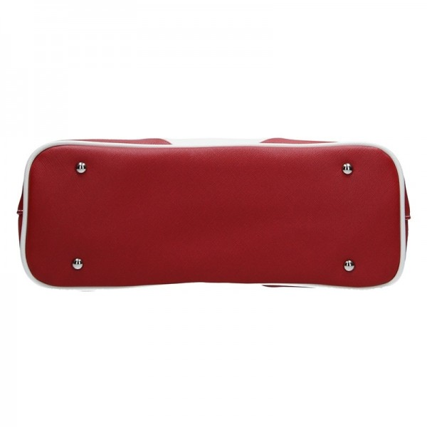 Dámská kabelka Hexagona 643727 - červeno-bílá