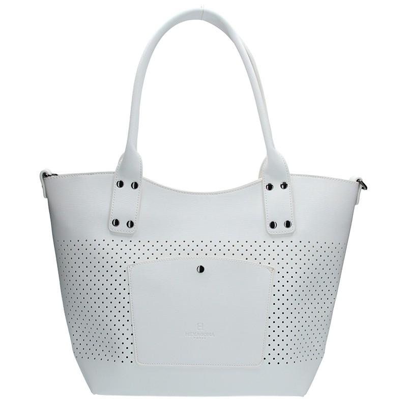 Dámská kabelka Hexagona 354937 - bílá