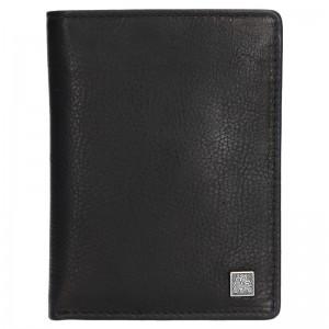 Kožená pánská peněženka Lerros Tibor - černá