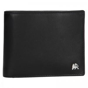 Kožená pánská peněženka Lerros Radovan - černá