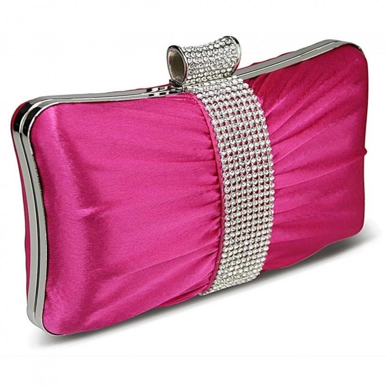 Dámské psaníčko LS Fashion Melissa - růžová
