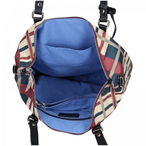 Dámská kabelka Waipuna Sandra - červeno-modrá