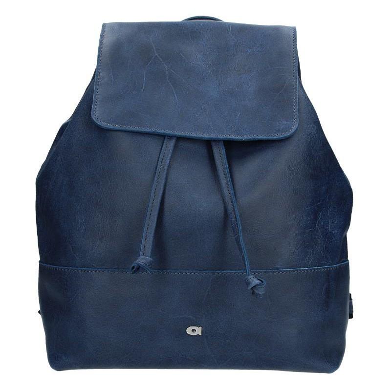 Dámský kožený batoh Daag Fanky GO! 21 - tmavě modrá