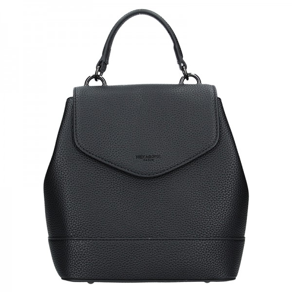 Dámský černý batoh Hexagona