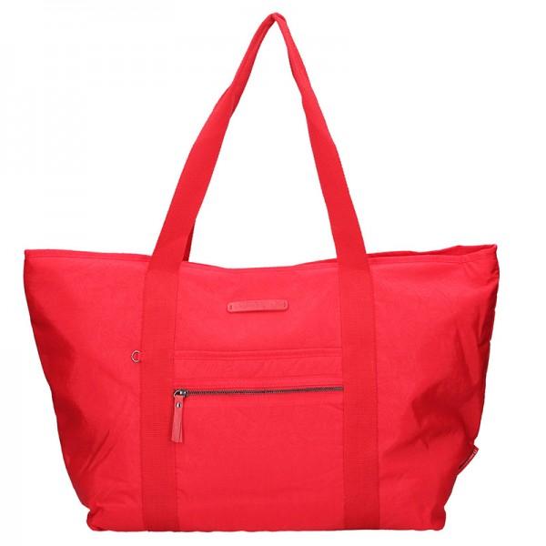 Červená taška Enrico Benetti